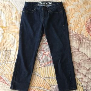 Madewell zip bottom cropped jeans size 29
